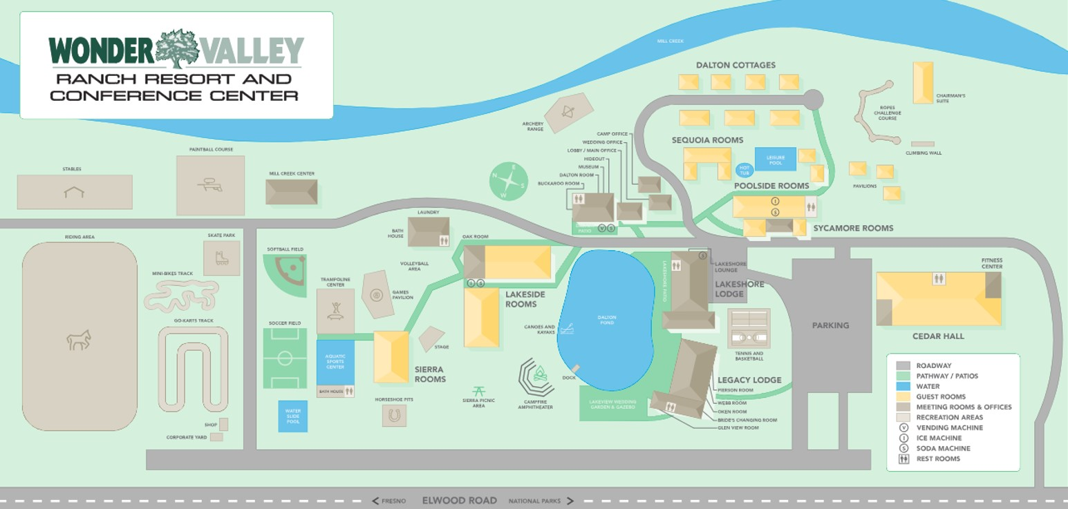 Wonder Valley Ranch Resort map